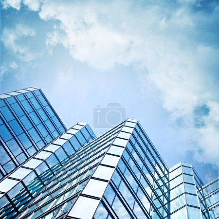 Photo for Skyscraper against sky building glass background square illustration - Royalty Free Image