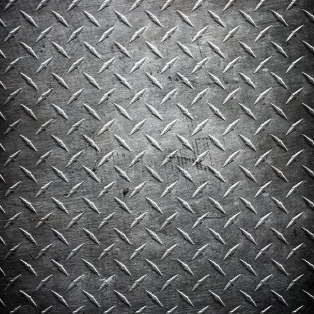 Photo for Diamond plate metal texture abstract industrial background - Royalty Free Image