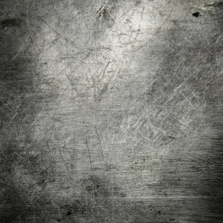 Photo for Scratched grunge metal plate industrial abstract background - Royalty Free Image