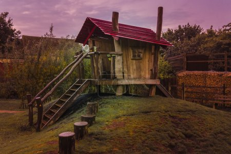 Spooky childrens wooden playhouse