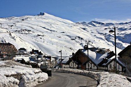 Snowy village, Sierra Nevada