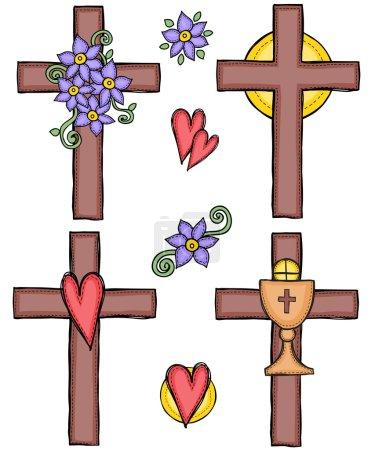 Illustration of crosses
