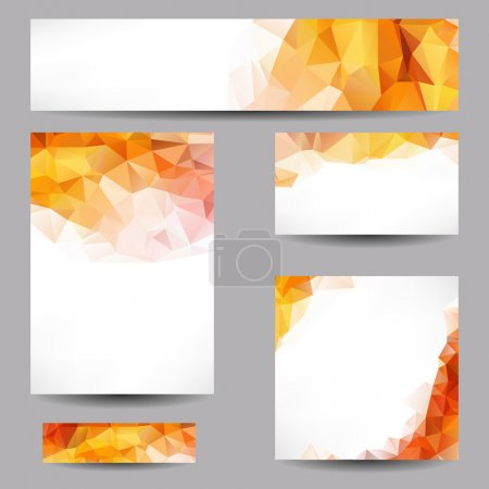 Illustration for Set of templates with abstract geometrical triangles - Royalty Free Image