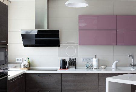Photo for European brand new bright kitchen in the house - Royalty Free Image