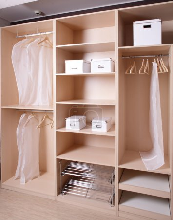 Photo for Modern and stylish brand new wooden wardrobe - Royalty Free Image