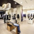 Interior of brand new fashion clothes store...