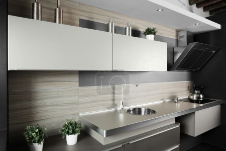 Photo for Interior of brand new modern and stylish kitchen - Royalty Free Image