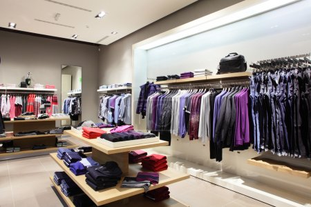 Photo for Interior of brand new fashion clothes store - Royalty Free Image