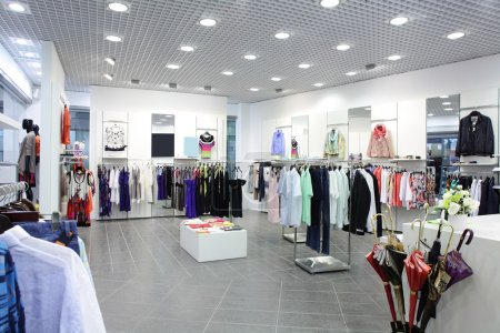 Photo for Luxury and fashionable european different clothes shop - Royalty Free Image