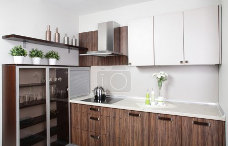 Photo for Luxury kitchen interior with modern furniture - Royalty Free Image