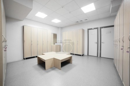 Photo for Nice Interior of changing room in gym - Royalty Free Image