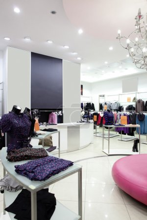 Photo for European clothing store interior in modern mall - Royalty Free Image