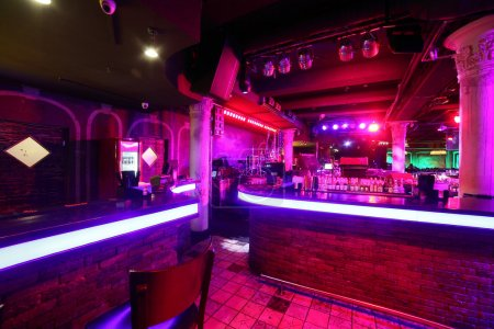 Photo for European stylish night club with bright lights - Royalty Free Image