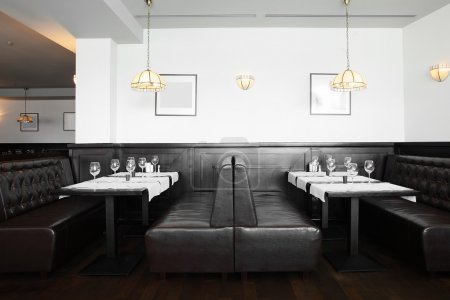 Photo for Modern european restaurant with nice and bright interior - Royalty Free Image