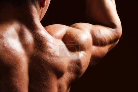 Photo for Strong and beautiful body of european bodybuilder - Royalty Free Image