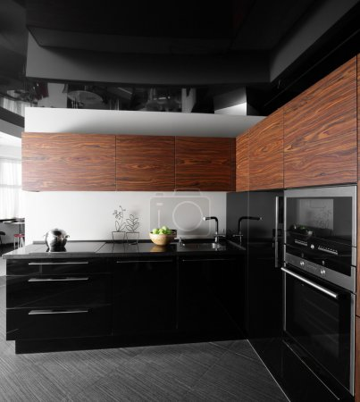 Photo for Beautiful and model interior of bright kitchen - Royalty Free Image