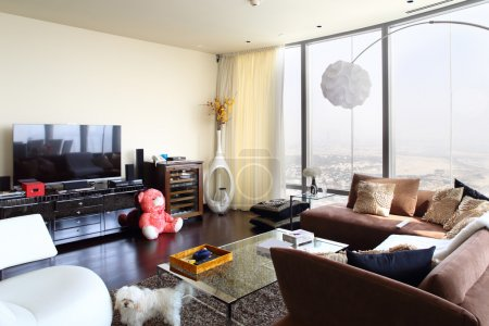 Photo for Big and bright interior of modern living room - Royalty Free Image