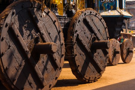 Traditional Ratha Big Small Chariots Wheels