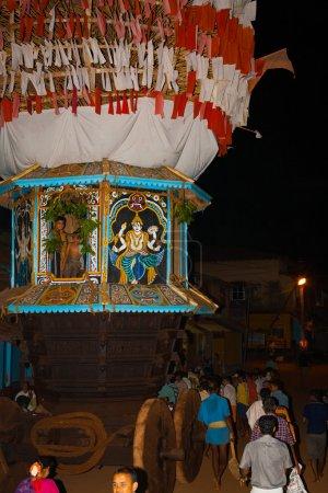Rear Small Ratha Chariot Pulled Gokarna Festival