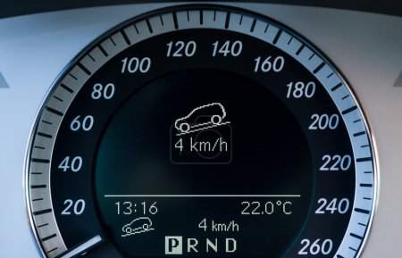 Jeep dashboard showing level information