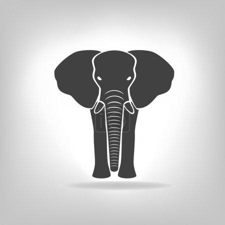 emblema gris de un elefante en un fondo claro