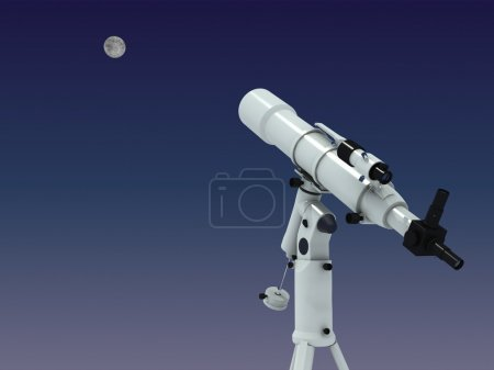 Telescope looking on the moon