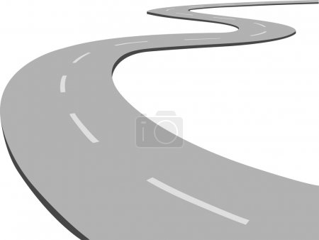 Curved road.