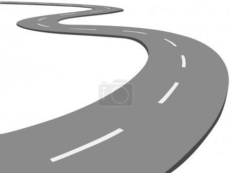 Vector winding road