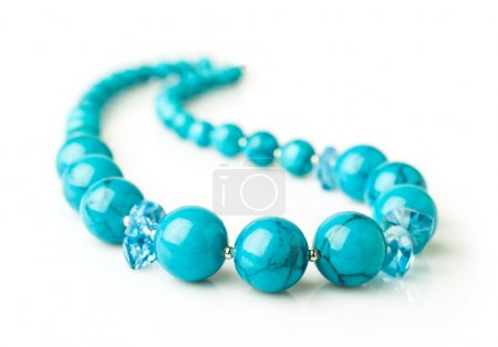 turquoise necklace close-up