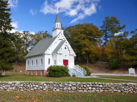 New England white church
