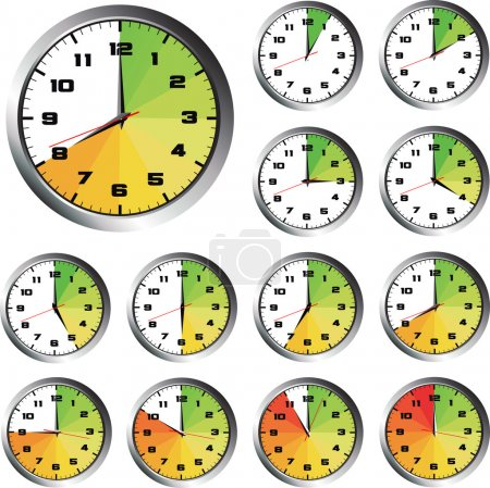 12 Hours clock set