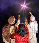 Wisemen following a star
