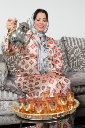 Pouring tea the arab way