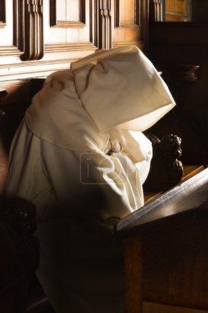 Monk with hood