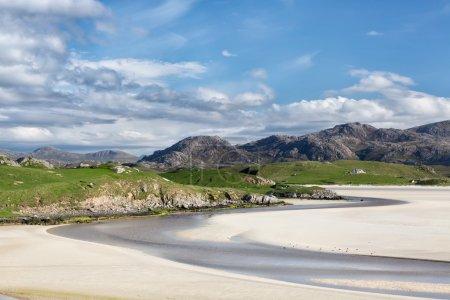 Sandy beach of Uig on Lewis