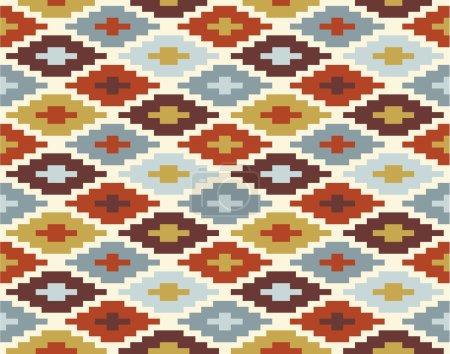 Seamless ikat pattern #2