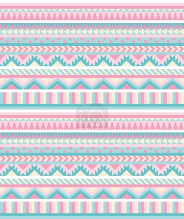 Seamless aztec pattern in pastel tints