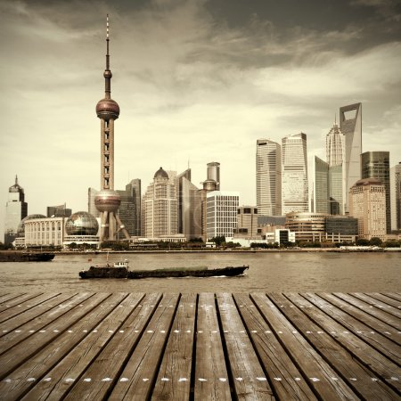Photo for Modern city skyline ,shanghai pudong, China. - Royalty Free Image
