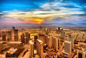 Bird's eye view of the city