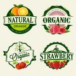 Set of retro Fresh & Organic labels....