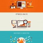 Set of flat Icons for web design, seo, digital mar...