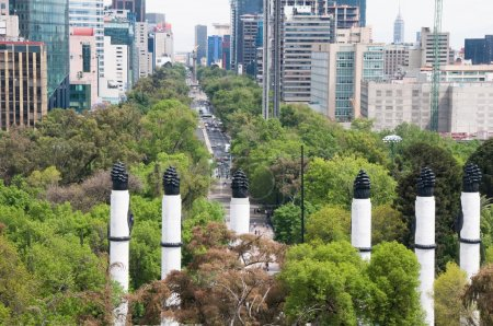 Reforma Avenue from Chapultepec castle, Mexico City