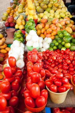 Fruits for sale in a market, Chiapas (Mexico)