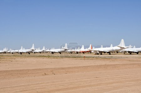 AMARG boneyard in in Tucson, Arizona