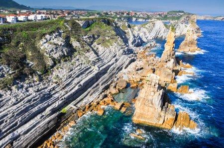 Photo for Broken coast (Costa quebrada) at Liencres, Spain - Royalty Free Image