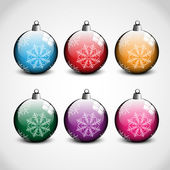 Christmas ornaments in 6 colors
