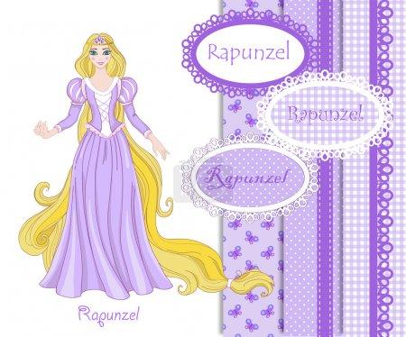 Beautiful princess Rapunzel