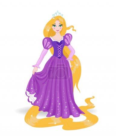 Beautiful princess in purple dress.