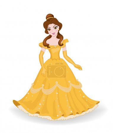 Beautiful Princess in a yellow dress.