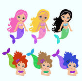 Set of little mermaid